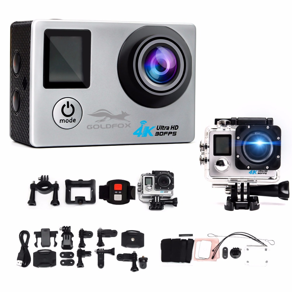 Galleria fotografica GOLDFOX 1080P Ultra-HD 4K action Camera wifi Camcorders 16MP 170D go cam 4K Sport Camera pro cam With waterproof case+control