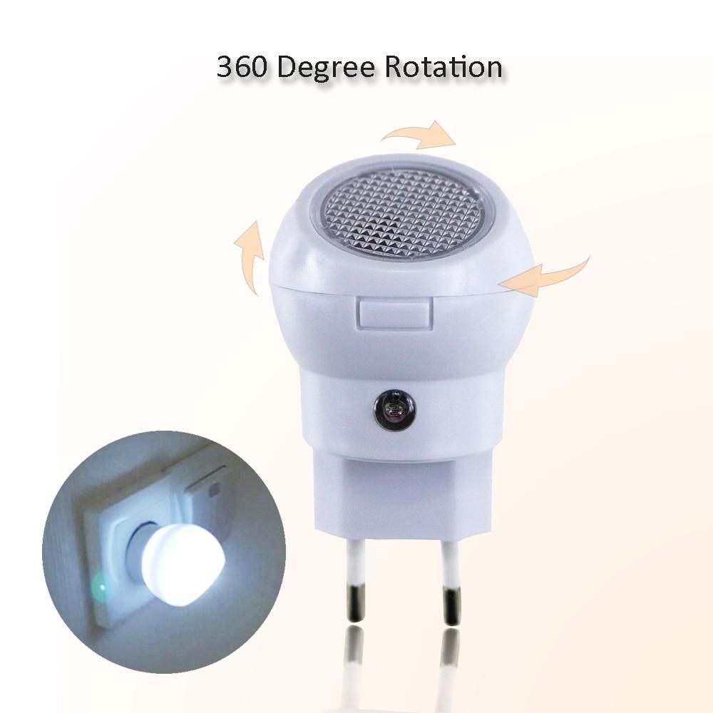 360 Degree Rotating Auto Sensor Control LED Night Light 110V 220V Lamp Bulb For Baby Bedroom Or Emergency Light A