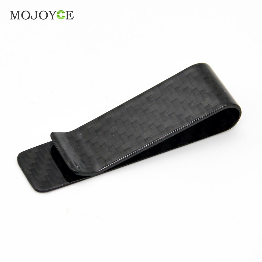 High Quality  PU +  Carbon Fiber Money Clip Holder Men's Business Credit Card Cash Wallet  Fashion Pocket Clamp Pocket Purse high quality stainless steel silver money clip double sided slim pocket cash id credit card clamp holder