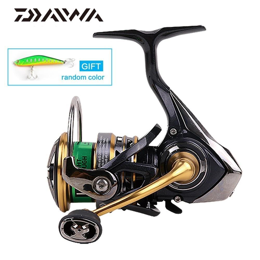 DAIWA Original EXCELER LT 2 velocidad 1000, 2000, 2500, 3000, 4000, 5000, 6000 carrete de pesca de alta relación de engranaje 5,2: 1 5BB-cuerpo