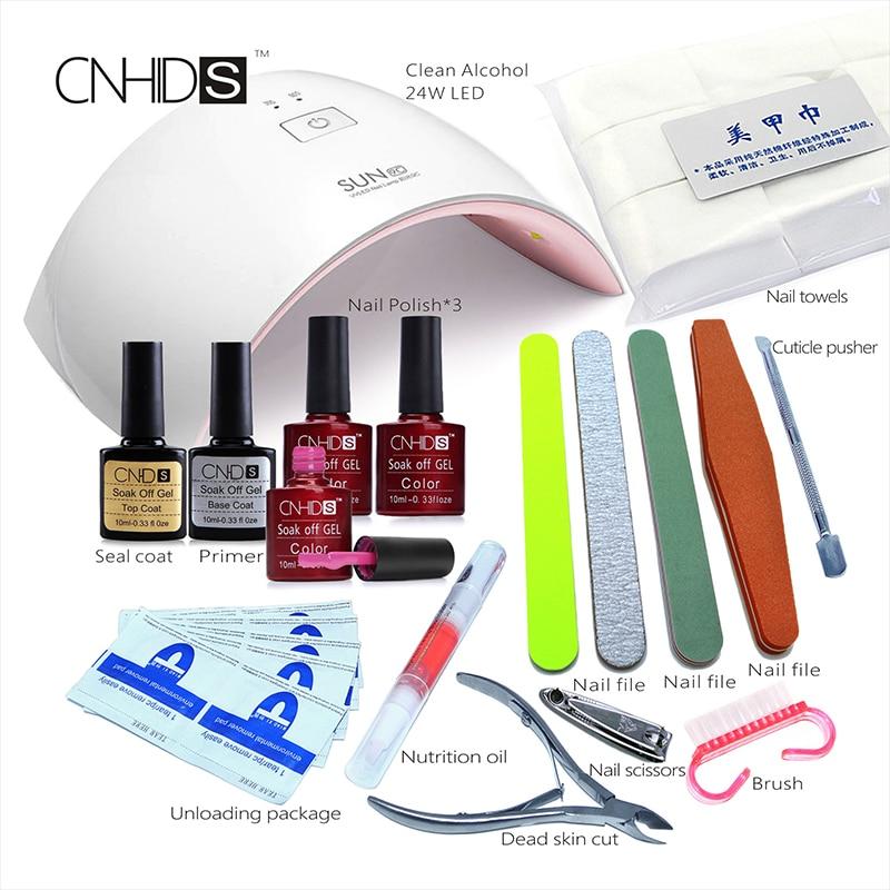 ФОТО  KCE in 24W Professional UV LED Lamp  3 Color Top Coat +Base Coat  10ml  Nail  Gel soak off Gel Nail  Polish Other Nail Tools