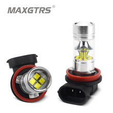 2x H7 9006 HB4 9005 HB3 H8 H11 Car LED Lights 100W Lamps CREE Chip XBD DRL Daytime Running Lights Automobiles Fog Light Bulb