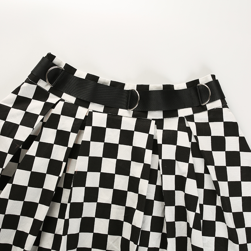 Disweet Pleated Plaid Skirts Womens High Waisted Checkered Skirt Harajuku Dancing Korean Style Sweat Short Mini Skirts Female 15