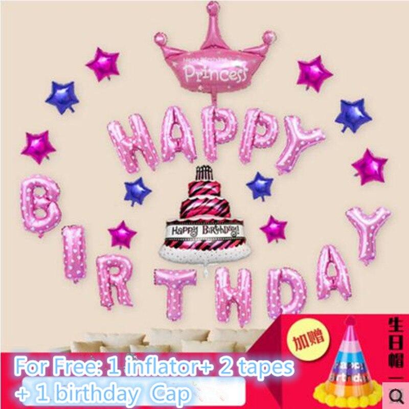 Helder Fantastisch Idee Aluminiumfolie Ballonnen Muur Achtergrond Decoratie Kits, Gelukkige Verjaardag Decor Kids Party, Kinderen Speelgoed Gezonde Fl-15