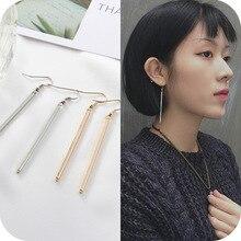bar earrings 2017 fashion new earrings Simple geometric square earrings geometric lady temperament women stud errings