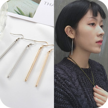 bar earrings 2017 fashion new earrings Simple geometric square earrings geometric lady temperament women stud errings