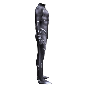 Image 4 - Black Panther TChalla Wakanda King Cosplay Costume Jumpsuit Fancy Zentai Mask