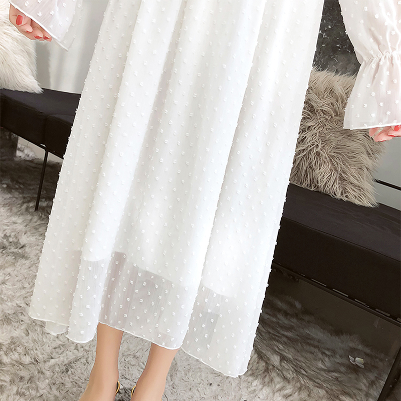Image 5 - Susi&Rita Spring Chiffon Dress Women Vintage Long Sleeve Ruffled Party Dress Summer Sexy Ladies Beach Dress Vestidos Strand Jurk-in Dresses from Women's Clothing
