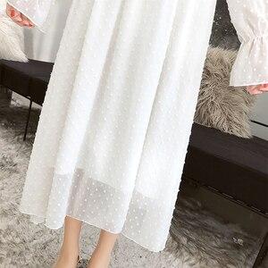 Image 5 - Женское винтажное шифоновое платье Susi & Rita, весеннее вечерние с длинным рукавом и оборками, вечернее платье, летнее Сексуальное Женское пляжное платье, платья, Пляжное Платье