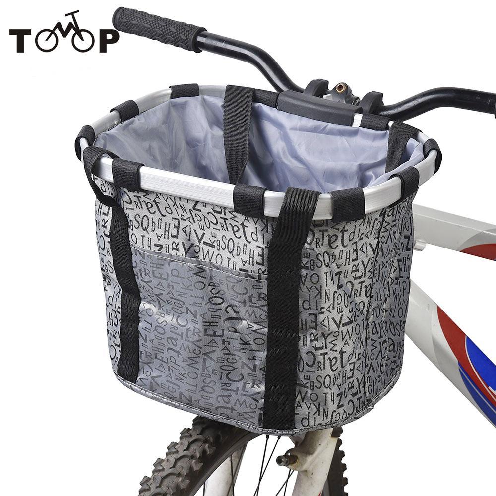 ColorBasket Oval Mesh Bottom Lift-Off Front Bike Basket Purple