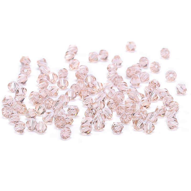 Marrón claro 100 piezas 4mm Austria cristal bicono cuentas 5301 encanto cuentas para bricolaje de joyería que hace S-12