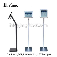 Tablet security lock ipad floor stand tablet display enclouse ipad security case bracket kiosk anti thef for Ipad 2 3 4 Air