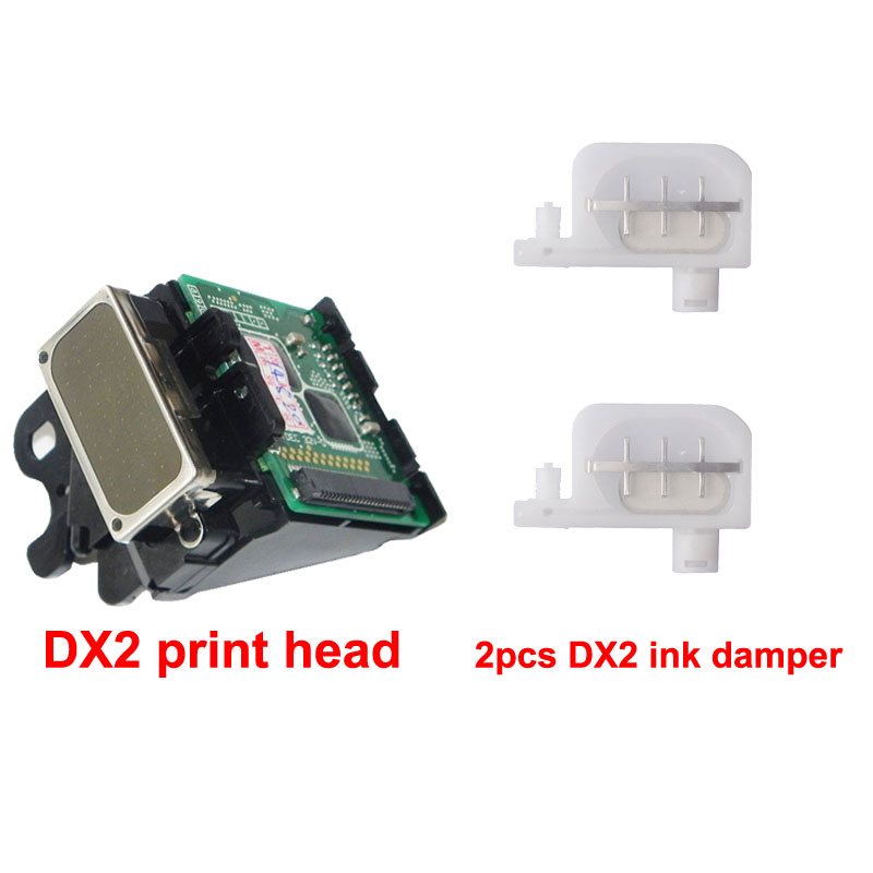 DX2 Solvent print head with 2 pcs Ink Damper Free for Epson 1520k pro7000 3000 9500 for roland SJ500 SJ600 9000 nozzle Printhead roland eco solvent full ink cartridge for xj740 640 xc540 with chip 440ml 6 colors cmyk lc lm