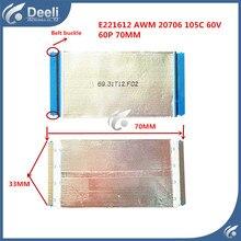 1pcs good Working New original P-TWO E221612 AWM 20706 105C 60V 60P 70MM long