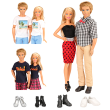 KEN Clothes Suits Mini Dress outfit T-shirt Shorts Shoes  For Barbie Ken Doll Lovers Clothes Accessories Our Generation