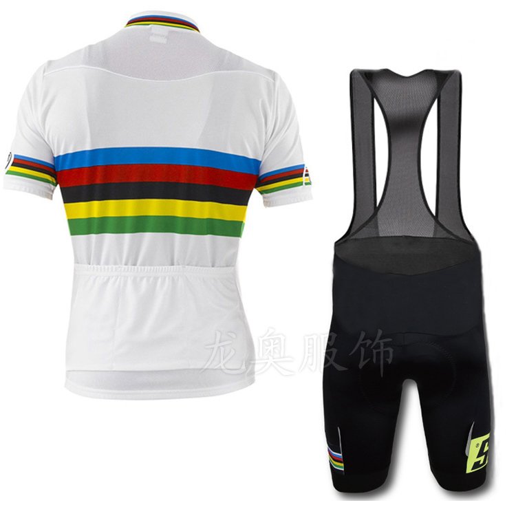a4837b914 High quality 2015 new UCI Santini rainbow bike jersey + bib shorts cycling  ciclismo suit tight ropa ciclismo clothing-in Cycling Jerseys from Sports  ...