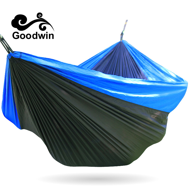 GOODWIN# Portable 300 kg Load-bearing Outdoor Garden Hammock Hang Bed Travel Camping Swing Survival Outdoor Sleeping Easy Fixing 2017 portable nylon garden outdoor camping travel furniture mesh hammock swing sleeping bed nylon hang mesh net