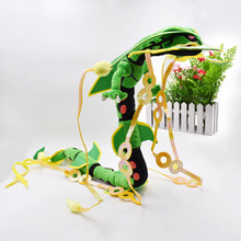83 cm Mega Rayquaza Green Animal Plush Peluche Doll With Skeleton Soft Stuffed Hot Toy Great Gift For Children