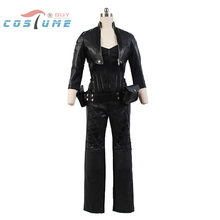 Green Arrow Black Canary Sara Lance Pleather Jacket Pants Outfit Halloween Cosplay Costumes For Women Custom Made