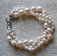 Charming Real Pearl Jewellery AA 5 8mm Genuine Freshwater Pearl Bracelet ,Bridesmaid Bracelet ,Wedding Party Lady's Gift