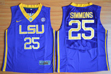LSU Tigers Nike Youth LSU Tigers Ben Simmons 25 College Ice Hockey Jerseys  - Purple Size S 56a37a49f