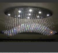 Кристалл светодио дный гостиная потолочный светильник творческий ресторан освещение моды романтическая спальня лампа