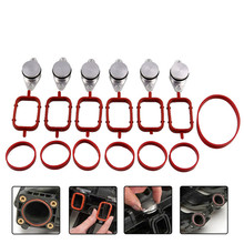4/6pcs 22mm Diesel Swirl Flap Blanks Replacement Bungs with Intake Manifold Gasket for BMW 320d 330d 520d 525d 530d carchet for vauxhall saab alfa z19dth 1 9 cdti tid jtd inlet intake manifold swirl flap rod inlet intake manifold swirl flap