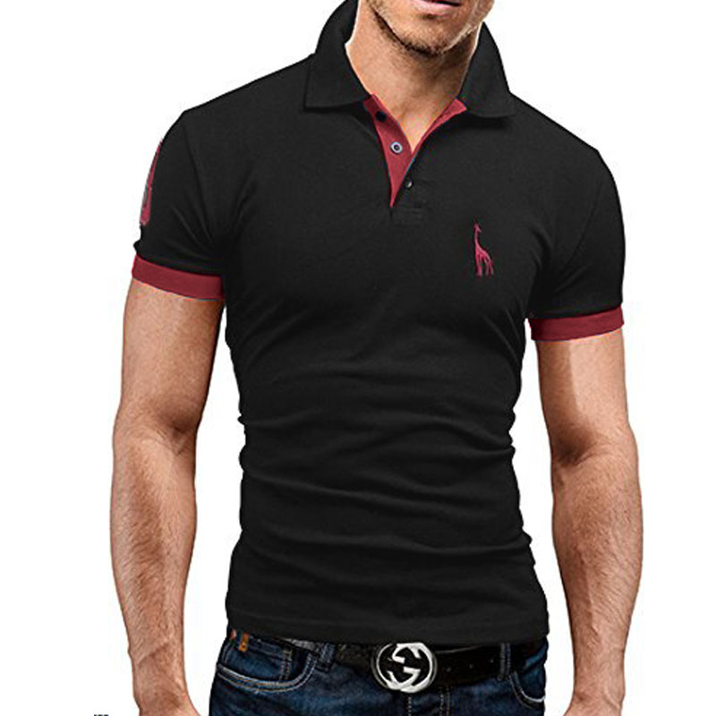 Mens USA Army Star And Bars Embroidered Long Sleeve Polo Shirts Men Shirts