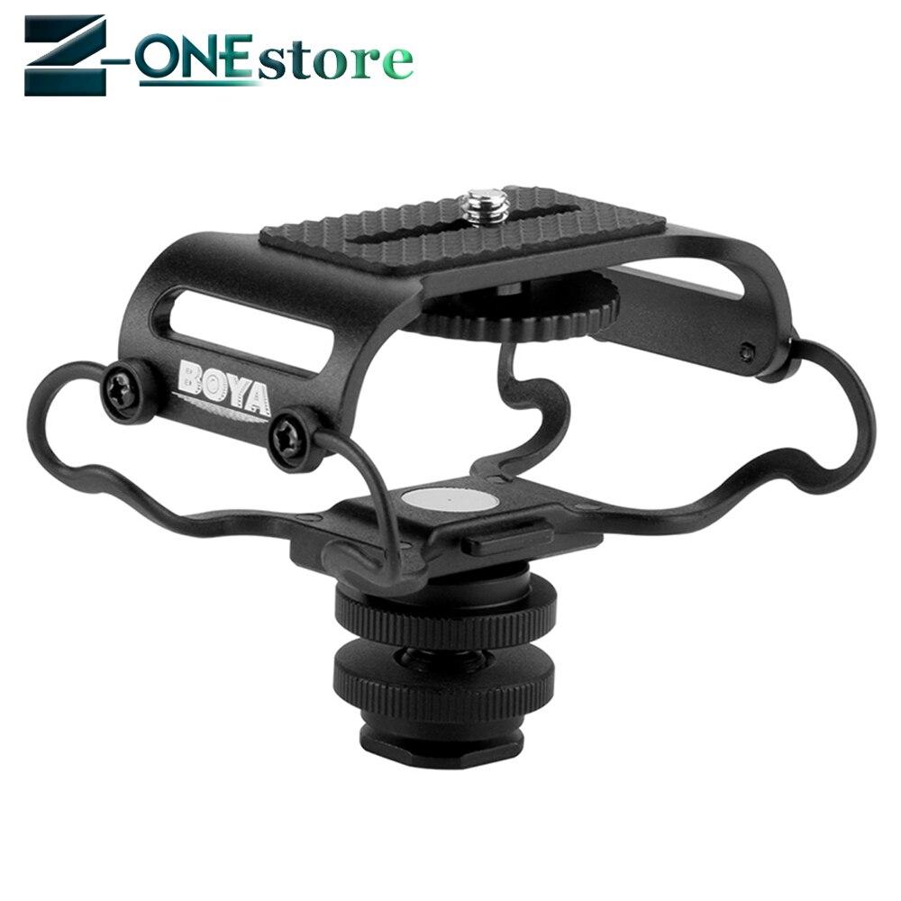 BOYA Microfone Choque monte para Zoom H4n BY-C10/H5/H6 para Sony DR Tascam-40 DR- 05 Microfone Shockmount Olympus gravadores Tascam