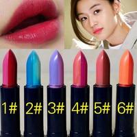 6pcs 6 Colorful Lipsticks Popular Brand Lip Stick Long Lasting Lipstick Matte Makeup Cosmetic Gloss Cheap