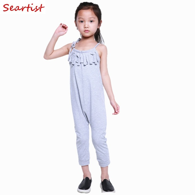 7241cde22 Seartist Baby Girls Long Jumpsuit Toddler Girl Summer Boho Tassels Playsuit  Girl Bubble Romper Baby Girl Clothes Plain Purple 35
