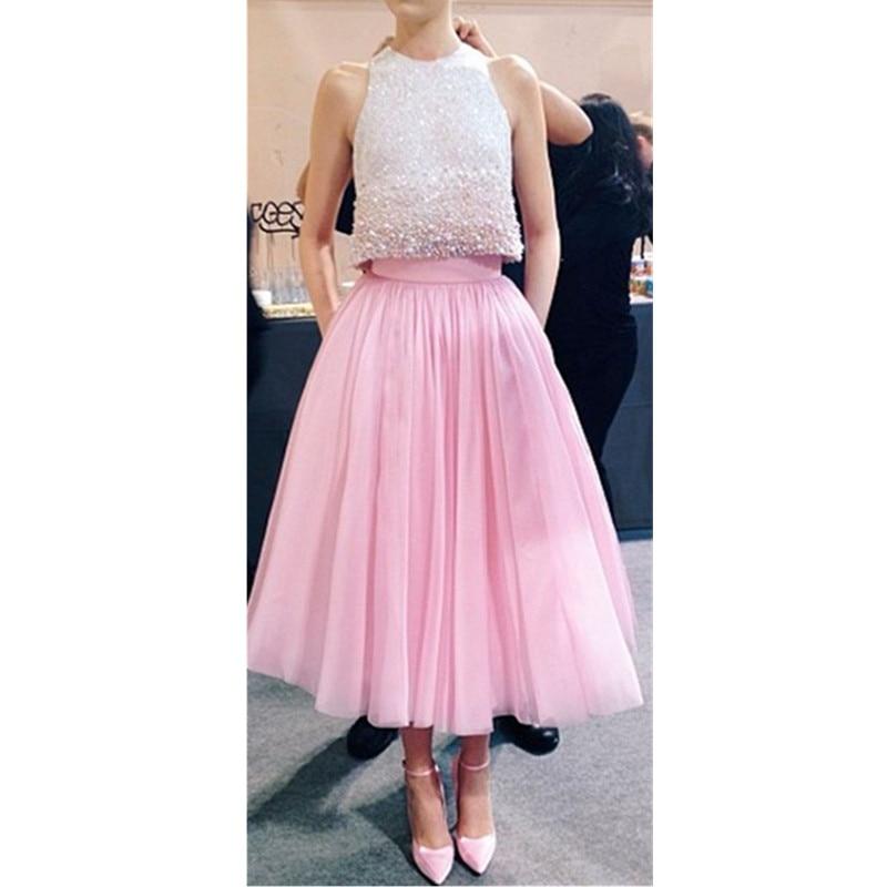 Moda rosado Color 5 Cintura Falda Faldas Bridemaid Card Card choose Fiesta Choose Alta Capa Tulle Adultos rWaZrSTq1n