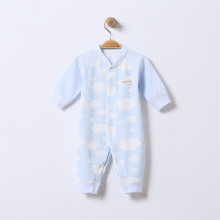 Jumpsuits Buttons-Up 100% Cotton Long-Sleeves Cute Absorbent Breathable Coveralls 3-9 Months