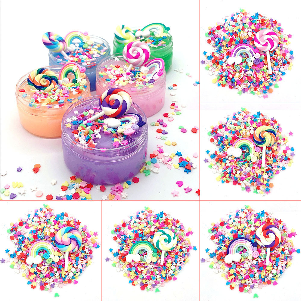 DIY 20g Slime Accessories Clay Sprinkles Decoration For Slime Filler Supplies Fake Chocolate Cake Dessert Mud Particles Toy Gift