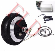 6 36V 250W electric 2 wheel scooter  hub motor kit ,electric scooter motor kit , electric skateboard conversion kit 16 front rear drive hub motor with lcd throttle disc brake set electric scooter kit for home scooter folding scooter diy