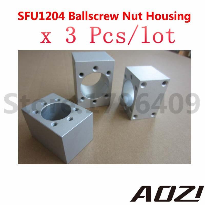 3pcs SFU1204 Ballscrew Nut Housing Aluminium Mounting Bracket For CNC Ballscrew Ballnut Free Shipping dhl ems 2 pcs f39 lr1 f39 lr1 1pcs new for om ron plc mounting bracket free shipping d1