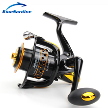 New 12+1BB 5.5:1 Metal Spinning Fishing Reel Peche Fish Wheel Spinning Reel Fishing Tackle 2000 – 7000