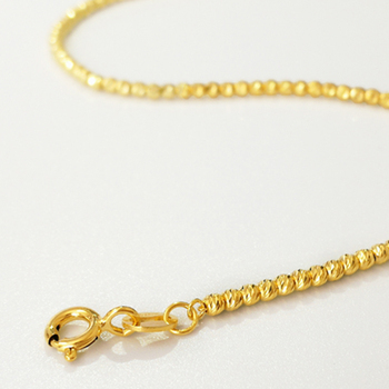 Gold Laser Beads Strands Bracelet 3