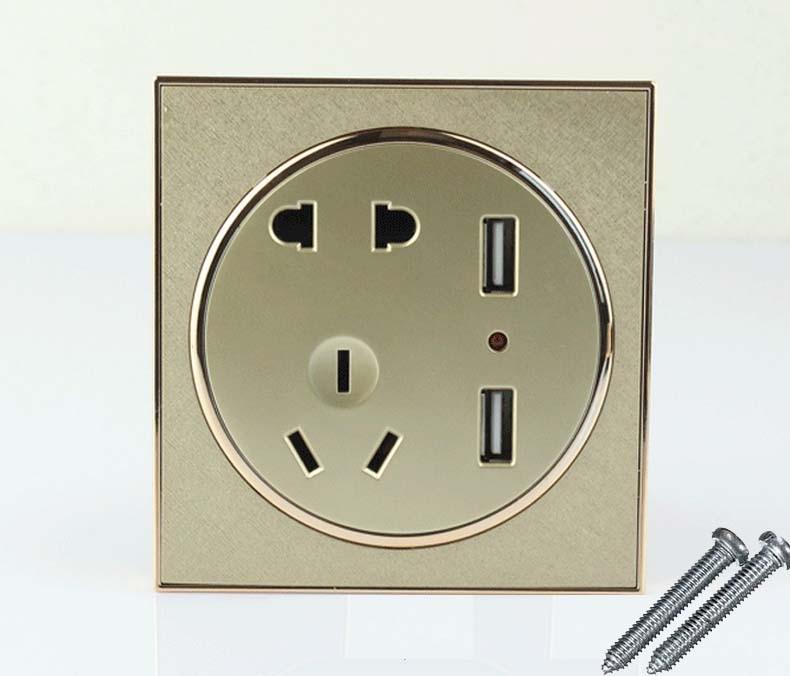10pcs USB Port Wall Socket Charger DC Power Receptacle Outlet Panel AU EU US