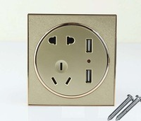 10pcs USB Port Wall Socket Charger DC Power Receptacle Outlet Panel AU EU US