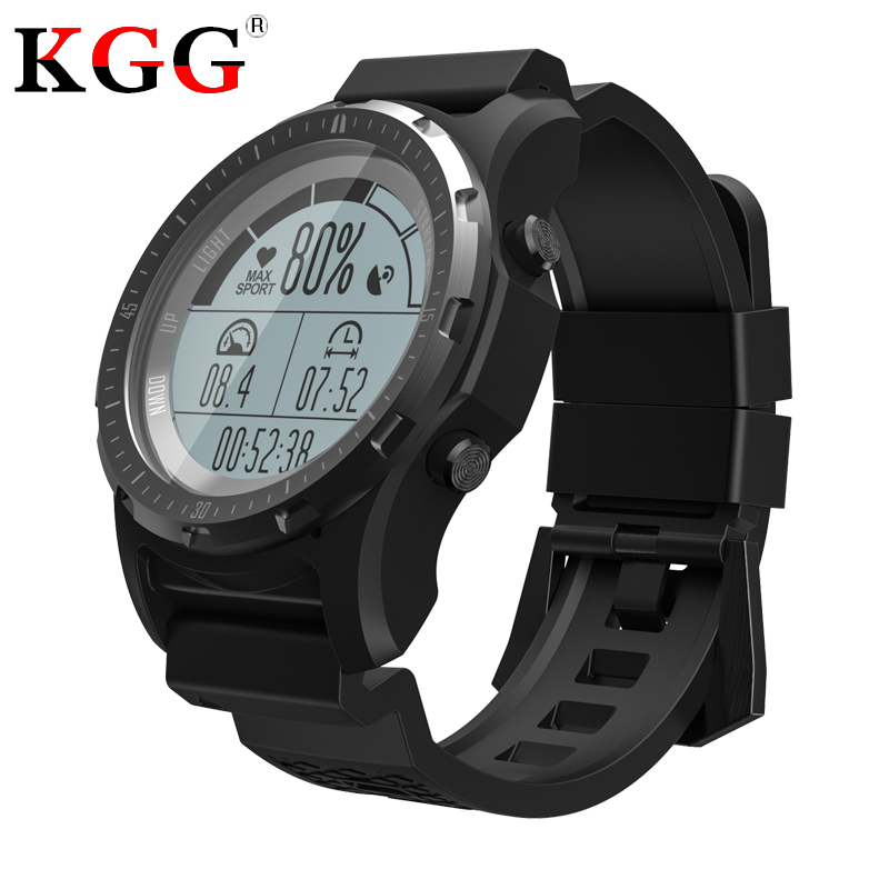 S966 Men GPS Fitness Tracker Wristwatch Heart Rate Monitor Sport Clock Smart Watch Air Pressure Compass
