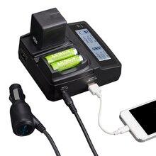 Lvsun telefone universal + aa + câmera do carro/ac adaptador de carregador para panasonic lumix dmw-bcl7e bcl7 bcl7pp bcl7e fh10 fh50 fs50 f5 sz3 sz9