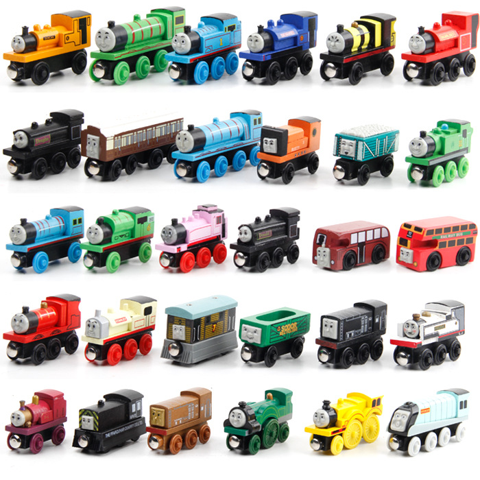 Haifeng 12pcslot Wooden Railway Trains Kids