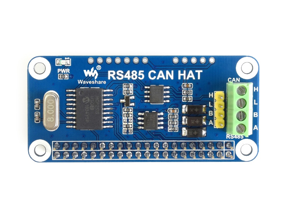 RS485 CAN HAT For Raspberry Pi, Allows Stable Long-distance Communication