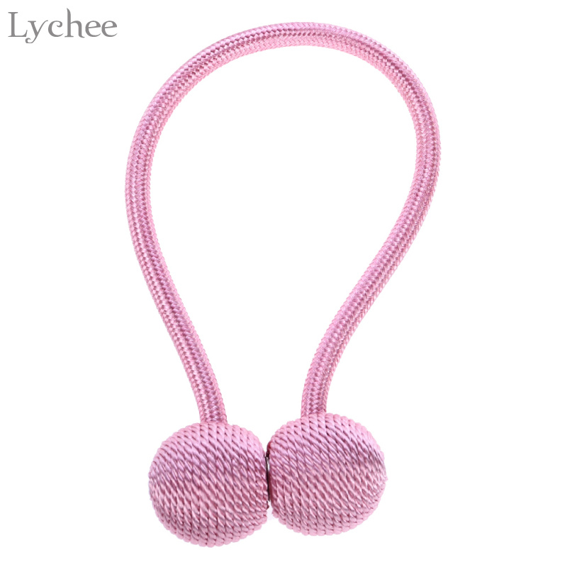 Lychee Europe Style Braided Spherical Magnetic Curtain Tieback Curtain Buckles Holdback Home Decoration