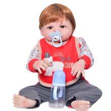 Фотография Realistic 58 cm Reborn Babies Boy Full Silicone Vinyl Body 23