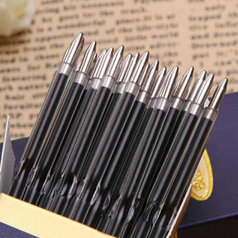 100 Pcs/lot 0.7mm Ballpoint Pen Refill Suitable for Retractable Pen Black/BlueRed Ink High Quality Writing Pen Refills