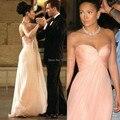 Jennifer Lopez Vestido de Novia Formal Largo Del Vestido de Noche Vestidos de Partido de La Celebridad Vestidos 2017 Nueva Llegada