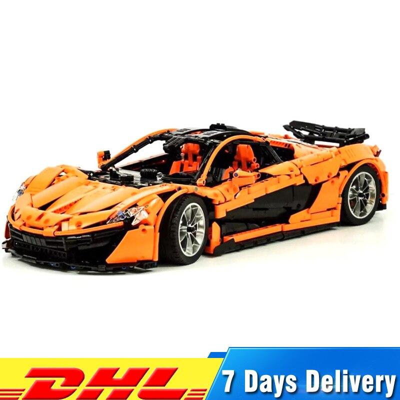 Lepin 20087 Technic MOC LegoINGlys 16915 Orange Super Racing Car Model Building Blocks Bricks Classic Funny Toys Gifts