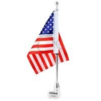 For Honda GoldWing GL1800 Luggage Rack Vertical Flag Pole American
